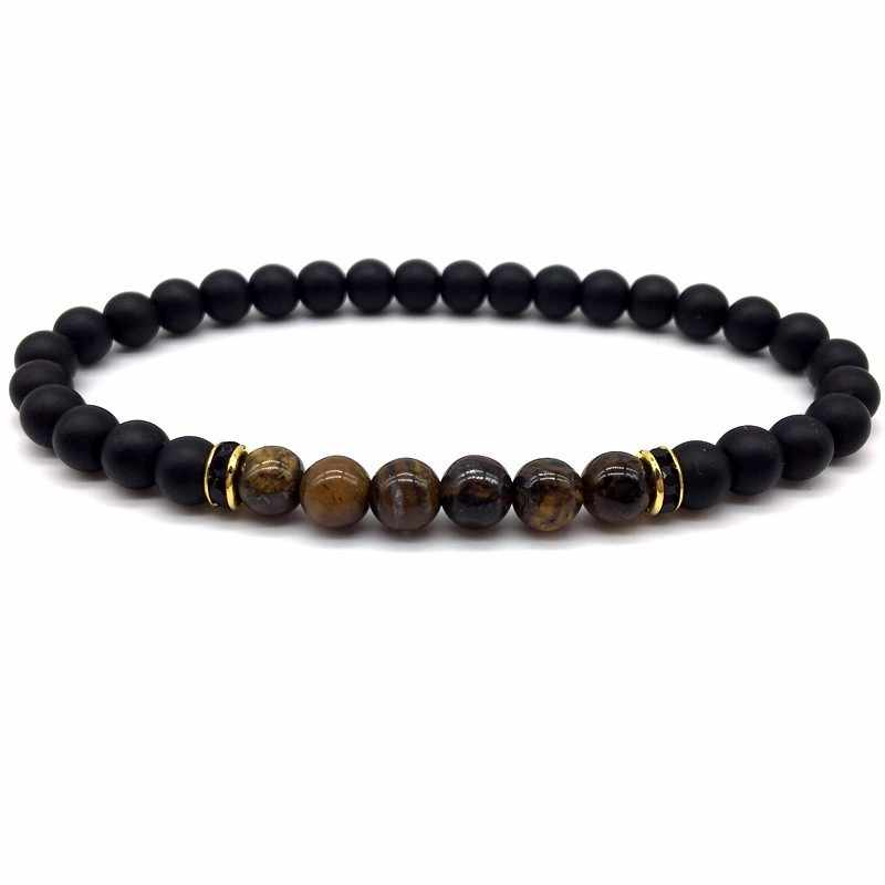 2019 бусины с тигровым глазом мужской браслет классический 6 мм камень матовый браслет из бисера для мужчин женщин ювелирный подарок