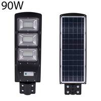 90W Solar LED Street Light Radar Induction PIRMotion Sensor Outdoor Wall Lamp 180led 2835smd Waterproof IP67