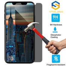 For iphone 7 8 plus 6 6s Anti-Spy Privacy Tempered Glass Screen Protector Film For iPhone XS Max XR Full Protective Glass Film professional 9h 2 5d privacy anti spy premium tempered glass protector film for iphone 4 4s