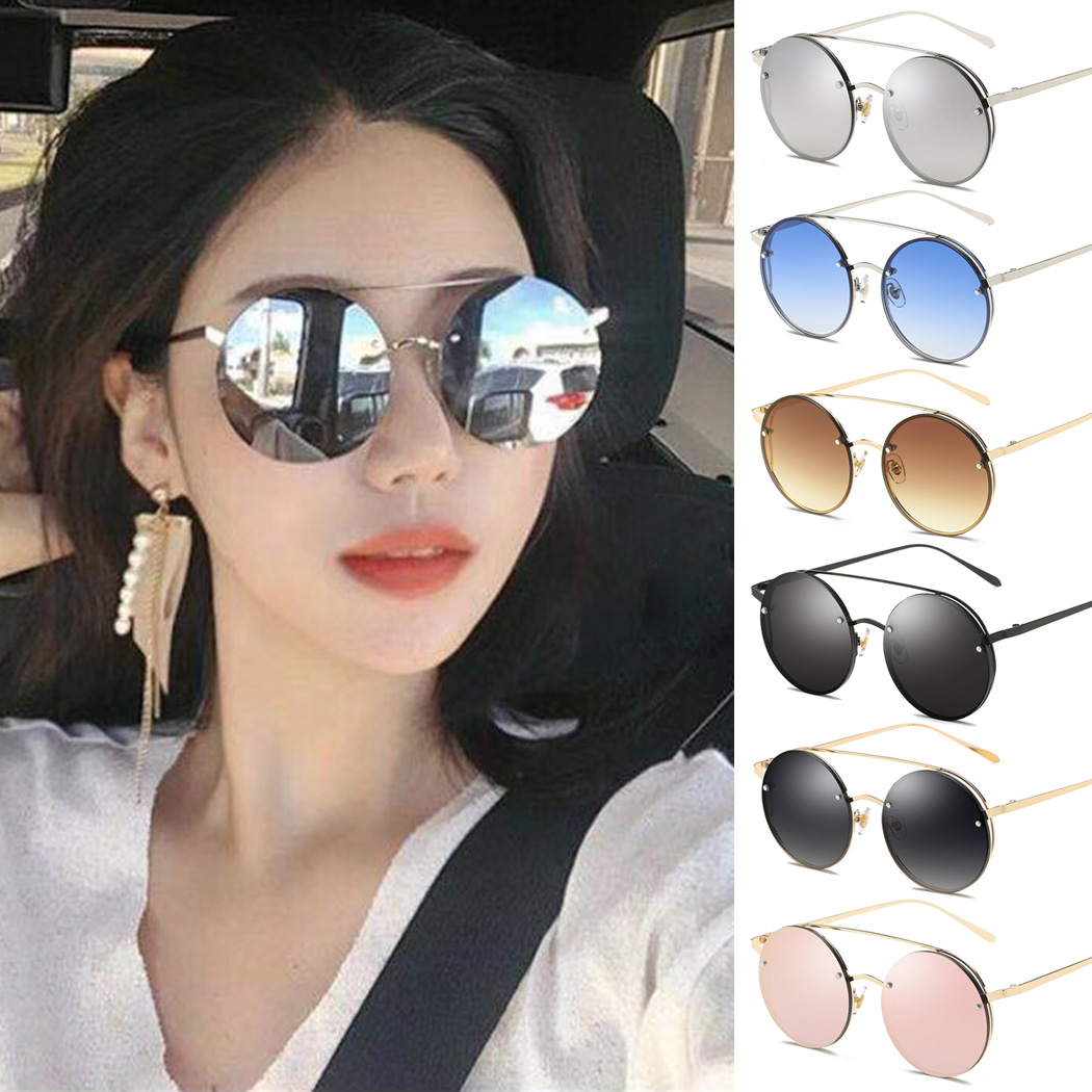 Womens CLASSIC RETRO VINTAGE Style SUN GLASSES SHADES Gold /& Peach Fashion Frame