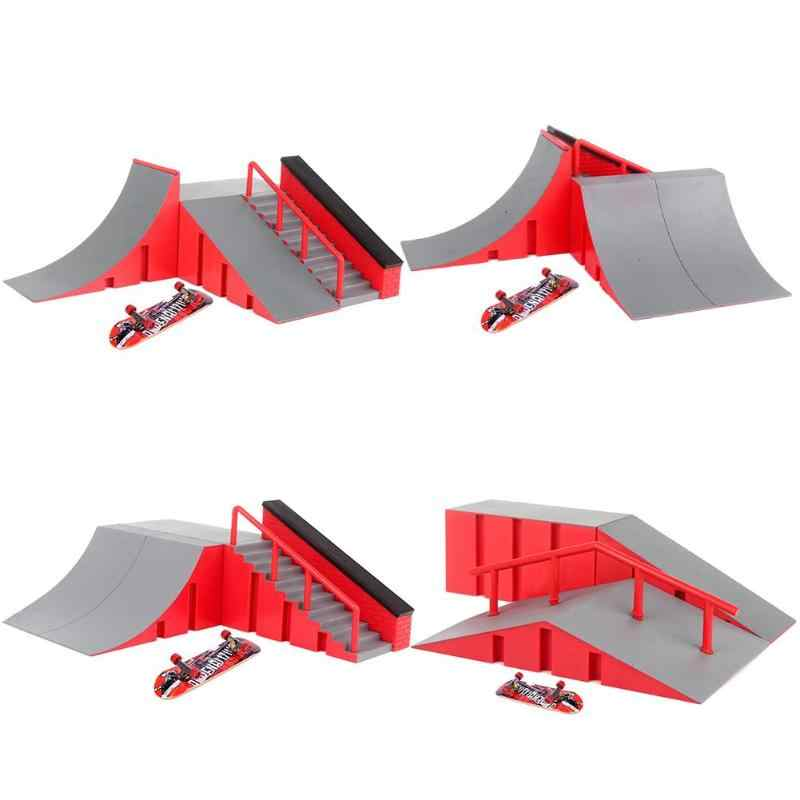 Fingerboard Skate Park Kit Mini Finger Skate Board Table Game Ramp Track Toy Mini Skateboard for Extreme Sports Enthusiasts Deck