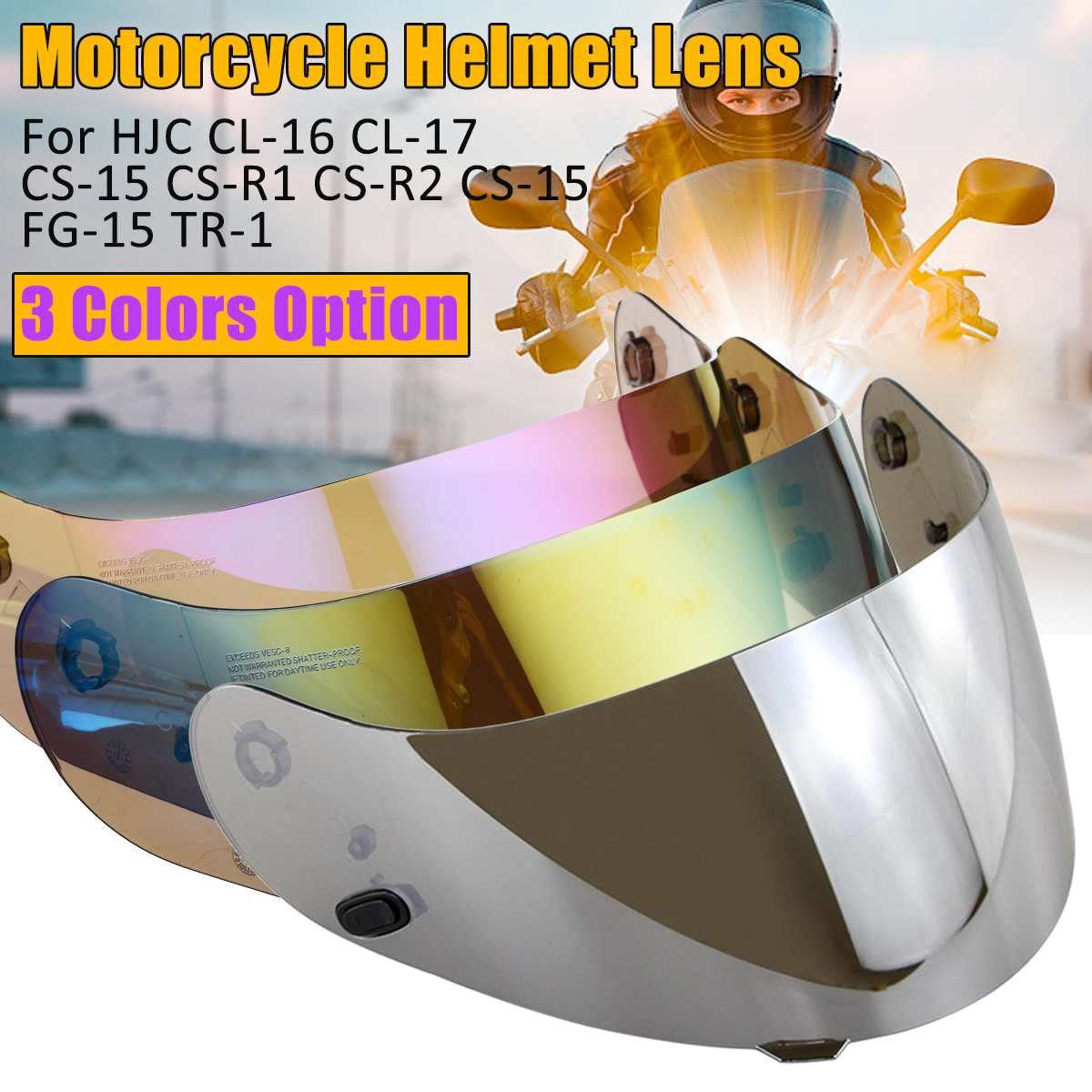 Motorcycle Accessories & Parts Motorcycle Helmet Visor For Hjc Cl-16 Cl-17 Cs-15 Cs-r1 Cs-r2 Cs-15 Fg-15 Tr-1 Shield Parts Original Glasses Motorbike Lens Modern And Elegant In Fashion