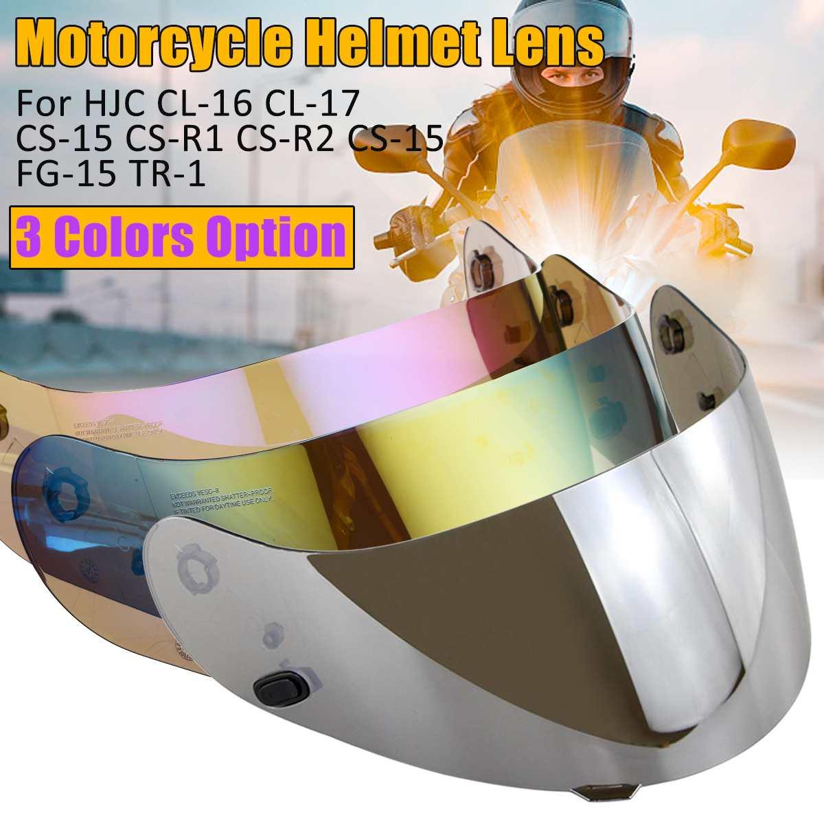 Motorcycle Visor Helmet Lens For HJC CL-16 CL-17 CL-ST CL-SP CS-R1 CS-R2 CS-15
