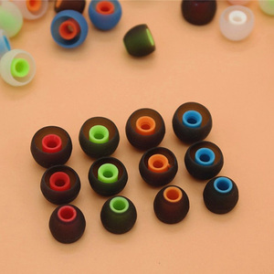 Image 5 - 6 Pairs 12 PCS 3.8mm Soft Silicone In Ear Earphone Covers Earbud Tips Earbuds Eartips Dual Color Ear Pads Cushion for Headphones