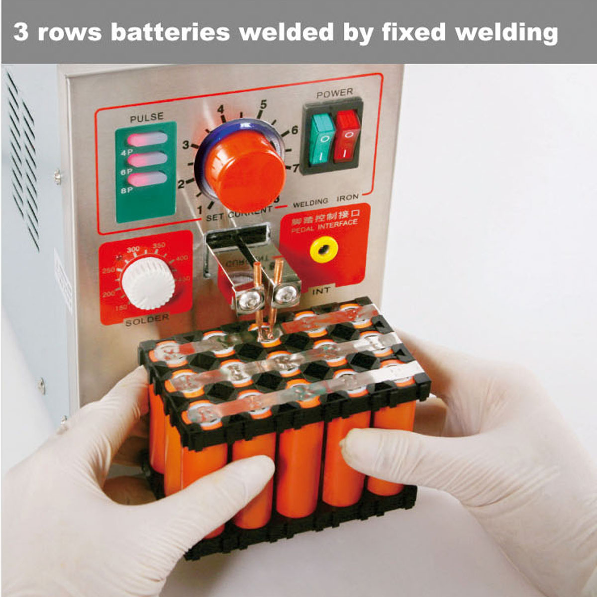 Spot Welder Eu Plug 220V 50Hz 709A 1.9KW Spot Welders 2/4/6/8 Spot Welding Machine For 18650 Battery Pack Circuit Board Solder
