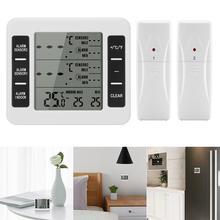 Draadloze Digitale Hoorbaar Alarm Koelkast Thermometer Met 2 Stuks Sensor Min/Max Display Indoor Outdoor Thermometer