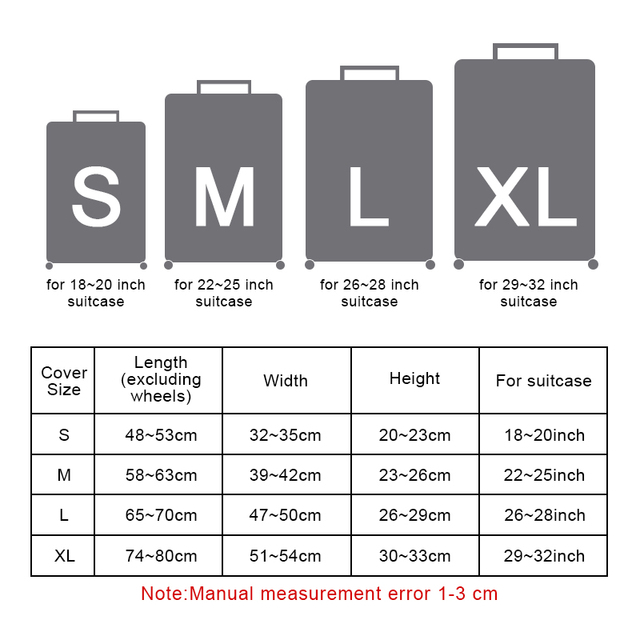 Travel Waterproof Elastic Luggage Cover Cartoon Protect Dust Bag