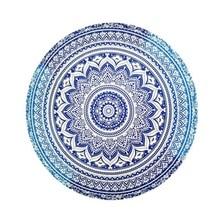 Круглый пляжный гобелен печать коврик для пикника пляжное одеяло гобелен 17 цветов