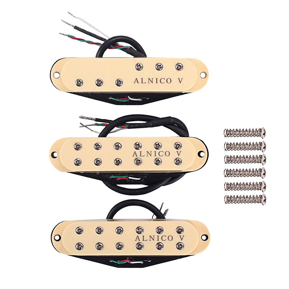 Micros à bobine unique Alnico V Standard SSS cou/milieu/pont ensemble de ramassage pour pièces de guitare électrique Fender ST Strat Stratocaster