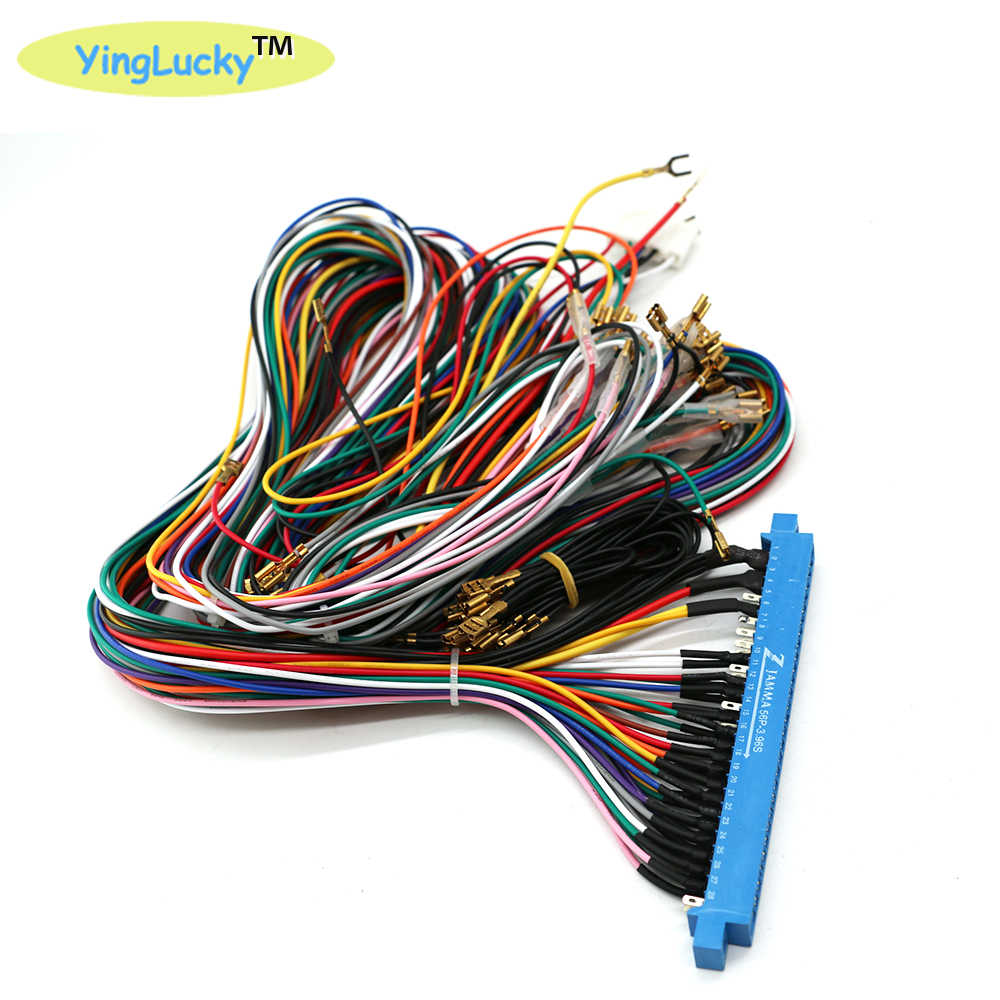 Yinglucky 아케이드 jamma veideo 아케이드 게임을위한 28 핀 jamma 하네스가있는 56 핀 5 6 액션 버튼 와이어가있는 판도라 박스