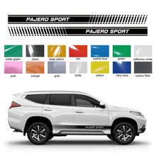 car sticker 2pc side body stripe gradient styling graphic vinyl accessories decal custom for mitsubishi pajero sport