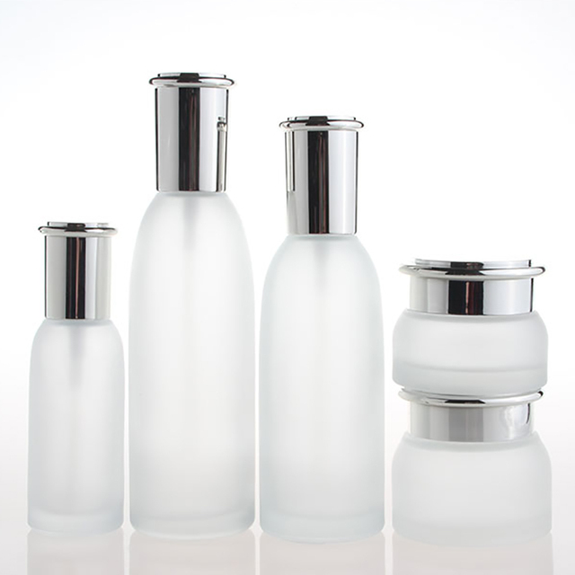 20f7084e2eb8 US $121.2 |Skin care container 4 oz facial toner bottle wholesale, empty  frosted clear 120ml luxury serum/cream bottle-in Refillable Bottles from ...