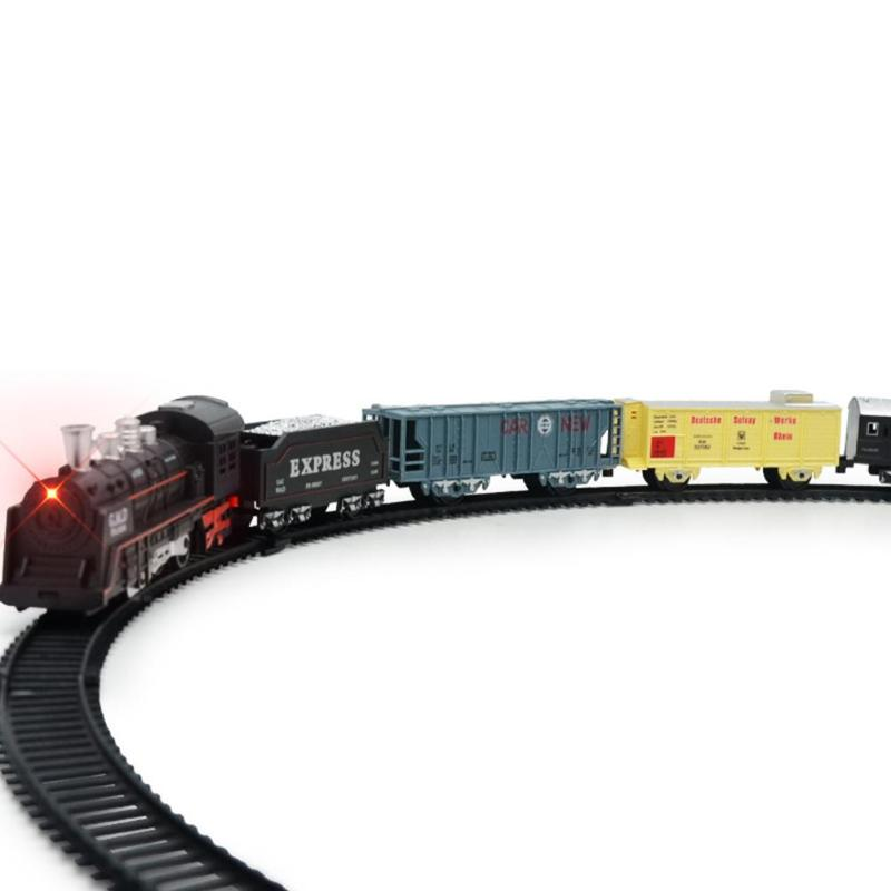Classic Motorized Train Set Electric Locomotive Model Train With Lights Toy Kit For Children Toys & Hobbies