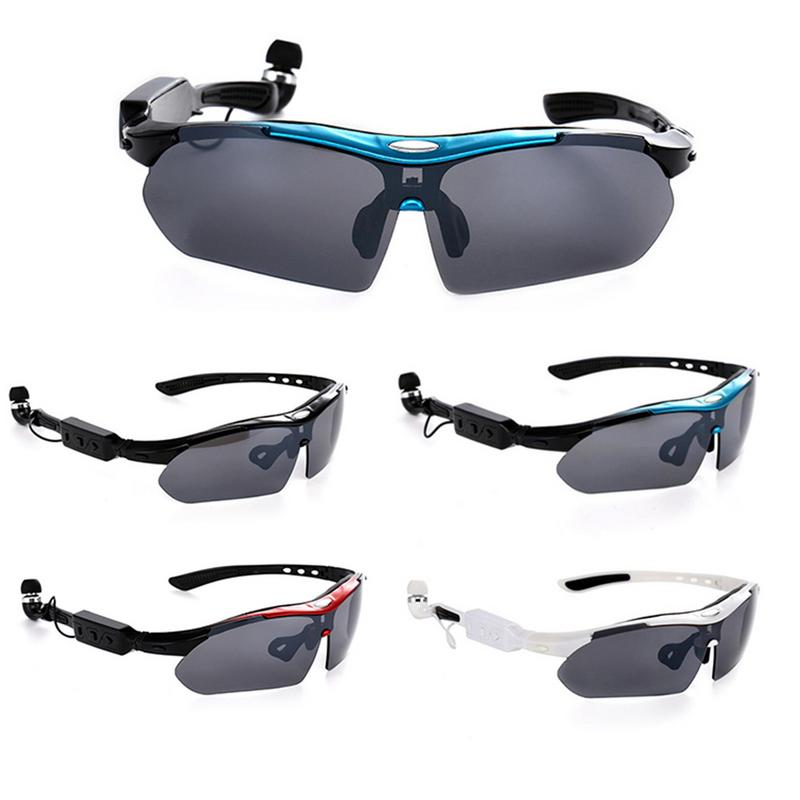 V4.1 Sunglasses 4 colors Sun Glass Smart Glasses Bluetooth Sports Headset MP3 Player Bluetooth Phone Wireless Earphones with Mic