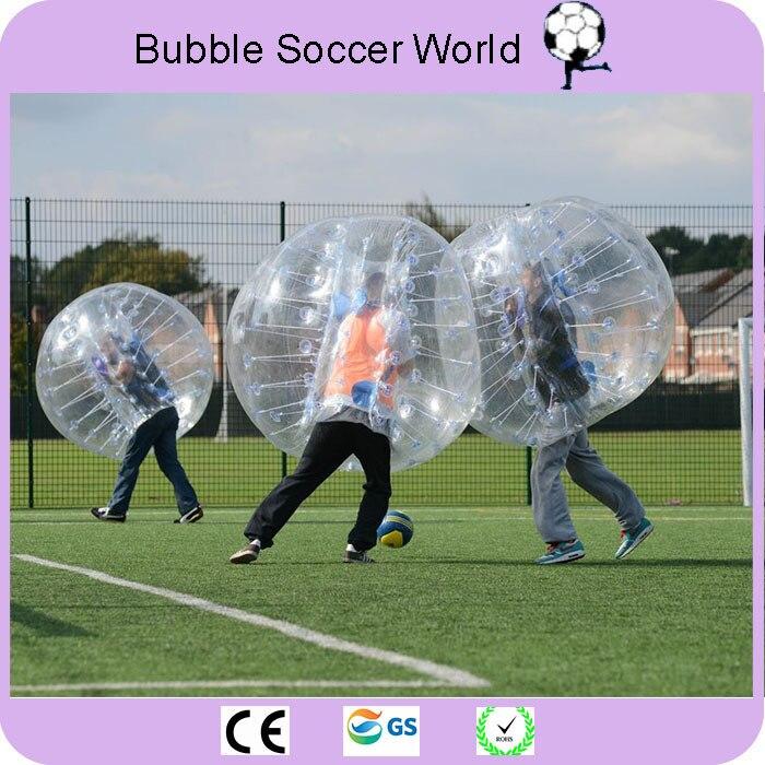 Boule de butoir gonflable 1.5 M 5ft diamètre bulle ballon de Football gonflable boules de butoir pour adultes Football 2 pcs/lot