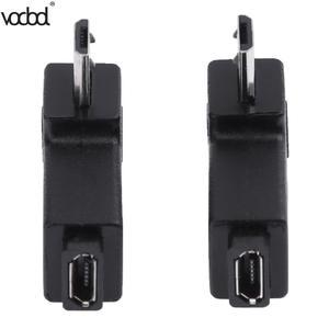 Image 4 - 2 pçs/lote 90 graus usb esquerda & direita angular micro 5pin fêmea para micro usb adaptador de dados macho para mini conector usb plug micro usb