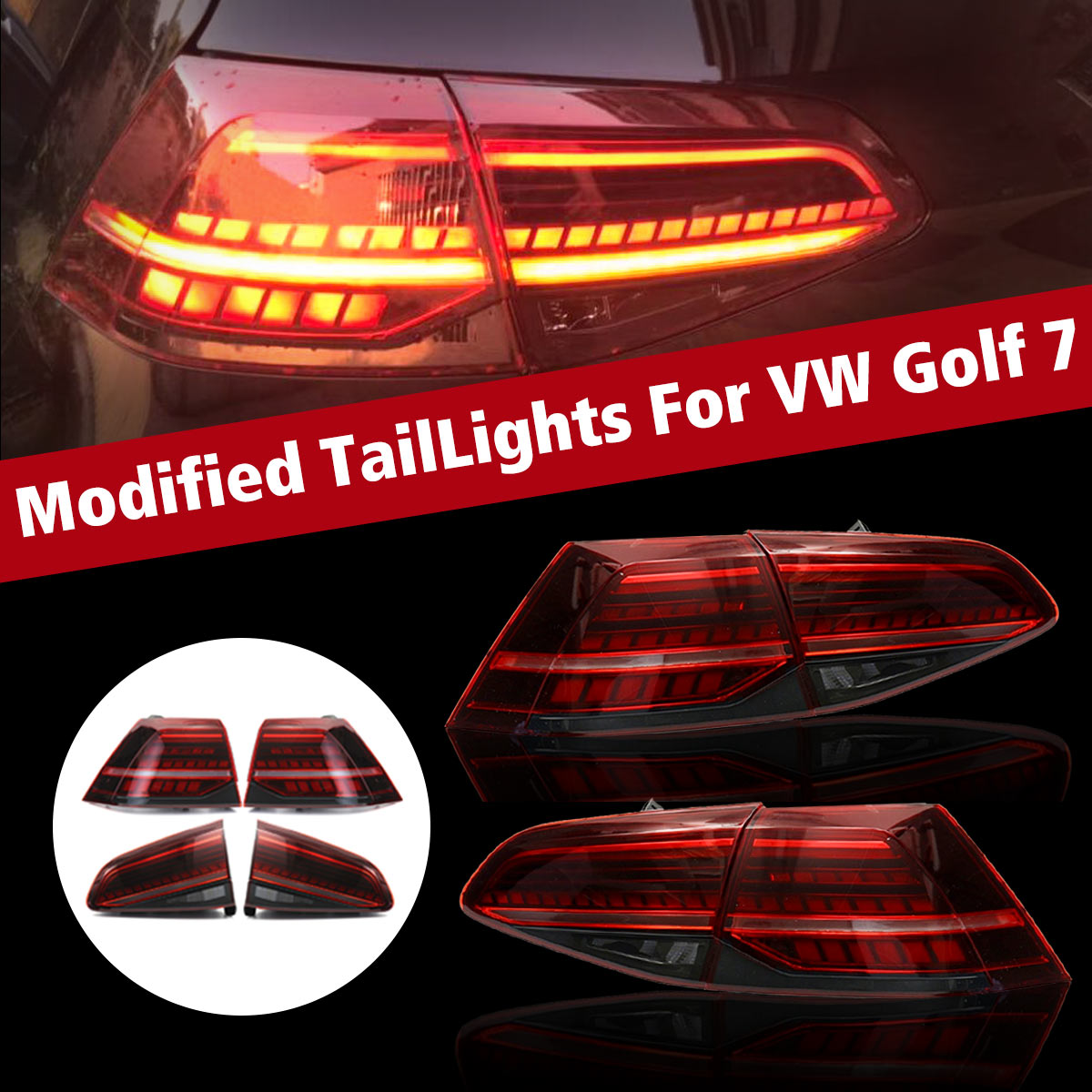 LED Tail Light for VW Golf 7 MK7 Golf7 Golf7.5 MK7.5 MK 7 Car Styling Taillights Tail Lights LED Rear Lamp taillight Automobile