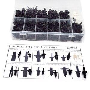 Image 2 - Auto Body Push Retainer Pin Klinknagel Bevestigingsmiddelen Trim Moulding Clip Uitbreiding Schroeven Kit Met Removal Tool Schroevendraaier 2019 Nieuwe