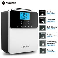 Augienb 12000L Water Ionizer Purifier Machine PH3.5 11 Alkaline Acid Adjust 5 Mode Settings Auto Cleaning LCD Touch Water Filter