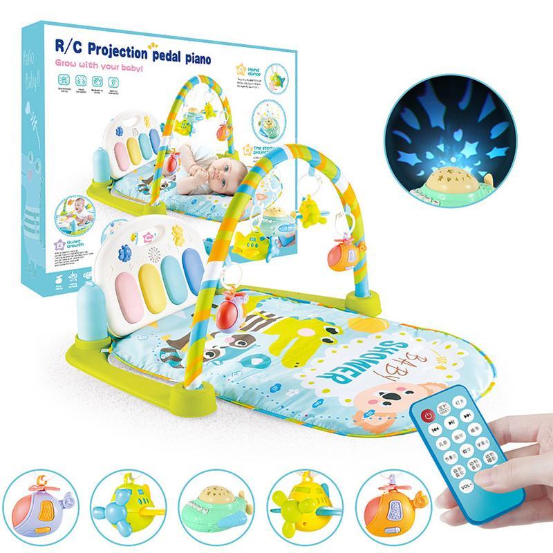 Bébé Piano Tapis Enfants Tapis Multi-fonction Crémaillère de Remise En Forme Avec Hochet Activité mignon Tapis de Jeu des animaux Enfants Jouets Éducatifs pour 0-1Y