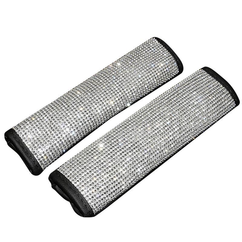 Auto Shift Gear Cover Handbrake Cover Shoulderpad Luster Crystal Car Knob Gear Stick Protector Rhinestone Car Decor Accessories