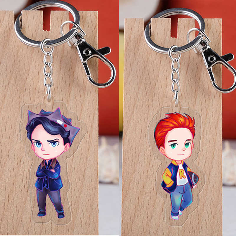 TV Series Riverdale Cosplay Keychain Fashion Lass Cabochon Couple Acrylic Car Key Holder Chain Pendants Keyring Jewelry