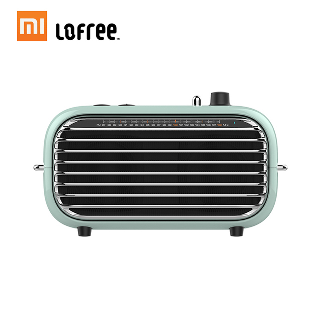 Xiaomi Lofree Bluetooth Speaker Retro Portable Wireless Speaker FM Radio Soundbox Bass Speakers Audio Player Music Amplifier