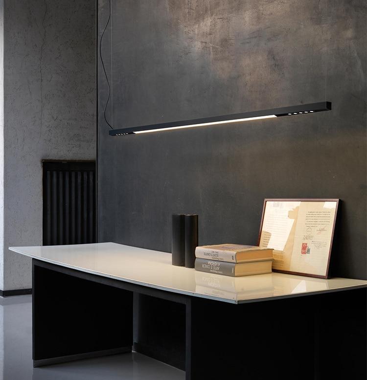 120cm surface mounted LED line light bar creative linear long strip office corridor lamp ceiling & hanging line lamp