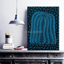 Cuadros Decoracion Free Shipping Yayoi Kusama Frameless Canvas Oil Paintings Modern Vintage Retro Gifts Wall Art Quotes Bedroom