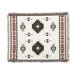 Image 2 - Multi Funktion Wohnkultur Aztec Navajo Handtuch Matte Baumwolle Sofa Bett Stuhl Decke Werfen Teppich Textil Wand Hängende Dekoration