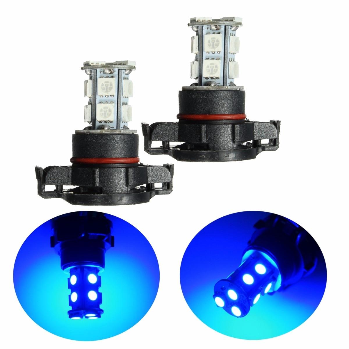 pair  smd     smd led car fog light bulbs drl lamp deep blue