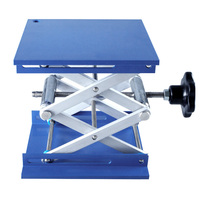 Aluminum Router Lift Table Woodworking Engraving Lab Lifting Stand Rack Lift Platform 100*100mm
