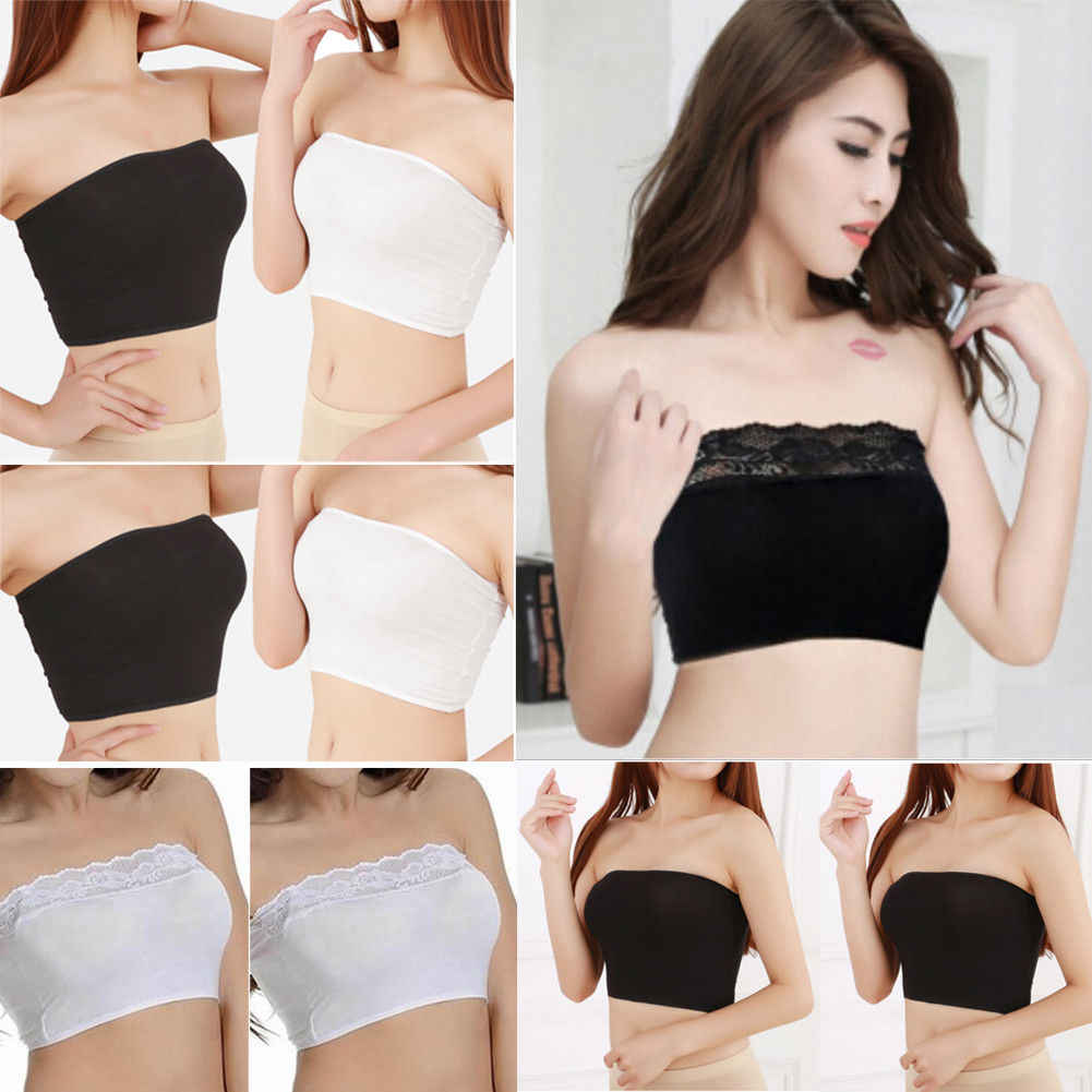 87ae2f6c5c Brand New Women Soft Lace Tube Tops Ladies Strapless Seamless Breathable  Back Bandeau Bra Boob Comfort
