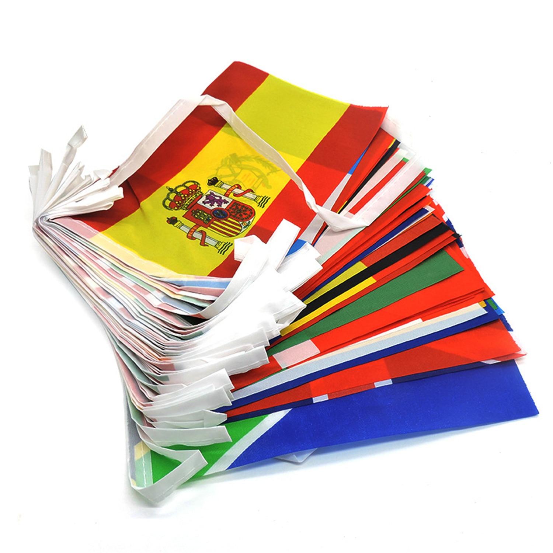 100/200 länder Flagge Banner International Welt Flags String Fahnen Bunting Banner Nationalen Fahnen Banner Für Party Dekorationen