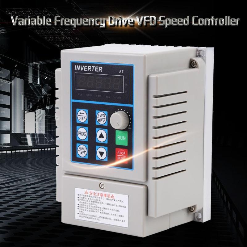 0 75kw 220V Frequency Converter Variable Frequency Drive Converter VFD Speed Controller Converter