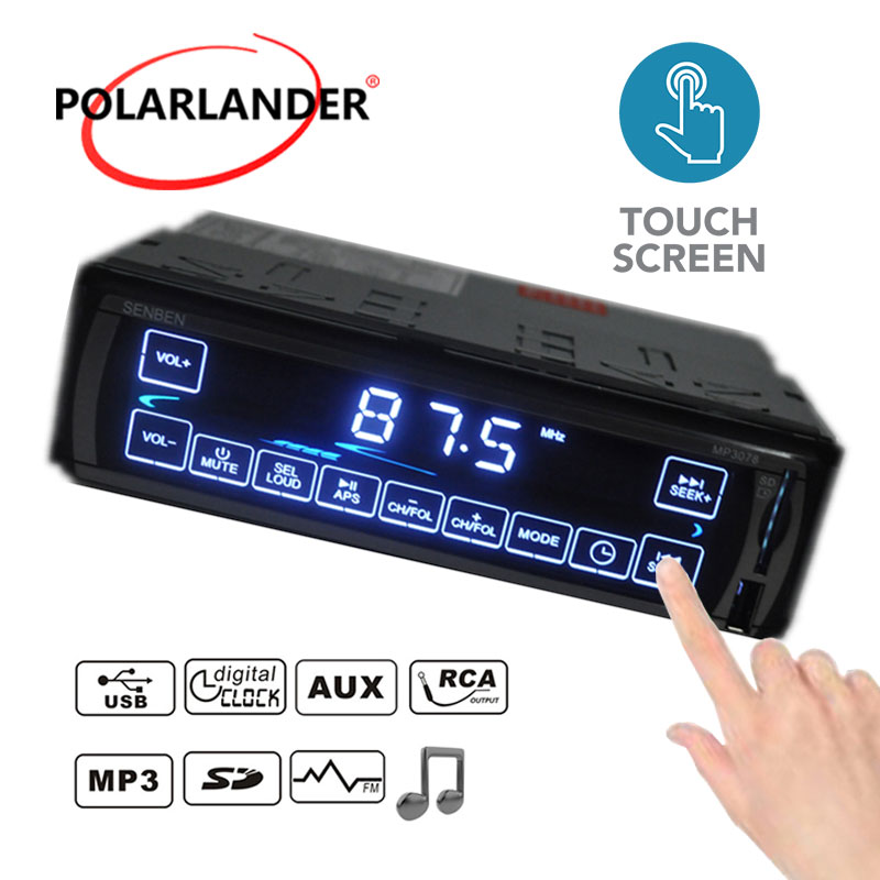 MP3/WMA/WAV player Car Stereo Radio LCD 3078 FM/SD/USB/MMC MP3 Player 1 DIN 12V Touch Screen Aux-in 5V Charger In-Dash fm модулятор lcd sd usb mp3