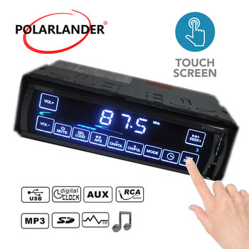 MP3WMAWAV player Car Stereo Radio LCD Bluetooth 3078 FMSDUSBMMC MP3 Player 1 DIN 12V Touch Screen Multiple EQ Microphone Воск