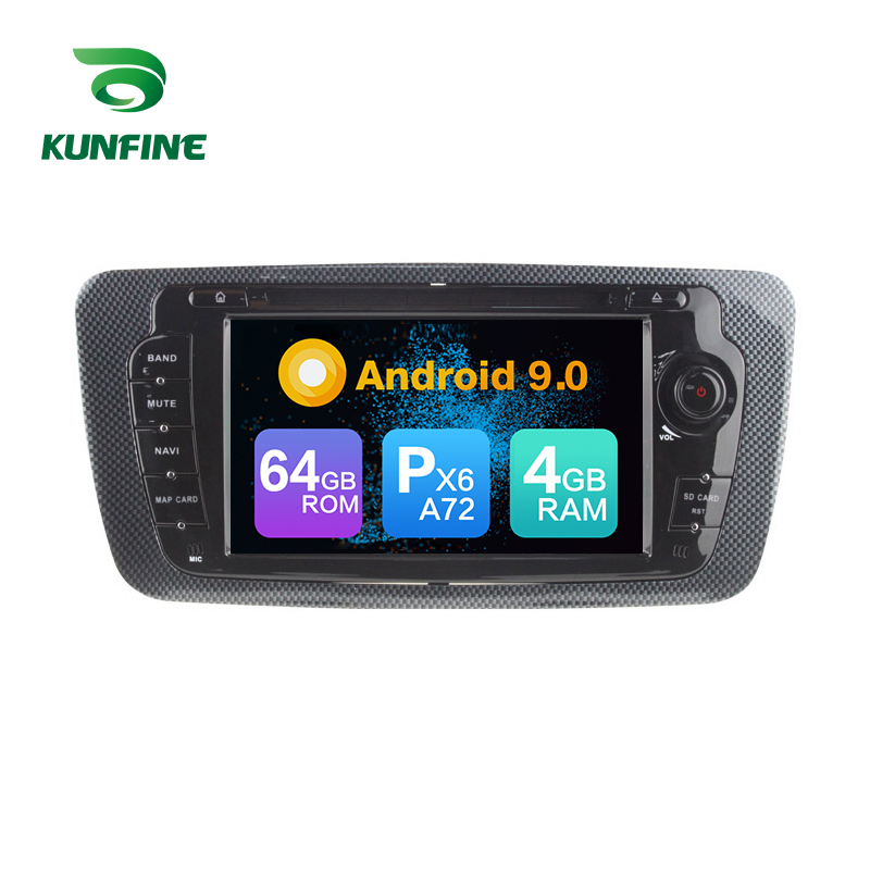 Android 9.0 Núcleo PX6 A72 Ram 4G Rom 64G Carro DVD Player Multimídia GPS Som Do Carro Para O Banco ibiza 2009-2013 unidade central de rádio 3G wi-fi