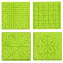 Силиконовый коврик 3D Ручка аксессуар для детей доска для рисования зеленый шаблон детские развивающие с 2 шапками для пальцев инструменты