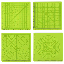 Silicone Mat 3D Pen Accessory Children Drawing Board Green Template Kids Educational With 2 Finger Caps Tools
