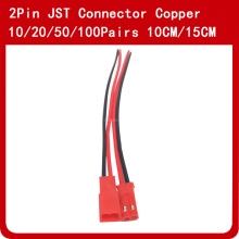 купить 10/20/50/100 Pairs 2pin JST Connector 10cm 15cm Wire Plug Cable Male & Female недорого
