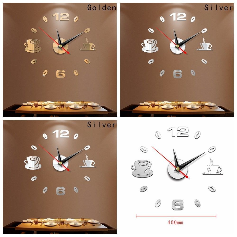 3d Large Wall Clock Mirror Sticker Big Watch Sticker Home