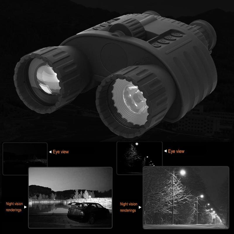 4X50 Zoom infrarouge Vision nocturne télescope binoculaire 200 m grand écran enregistreur vidéo pour la chasse visualisation militaire HD Profession