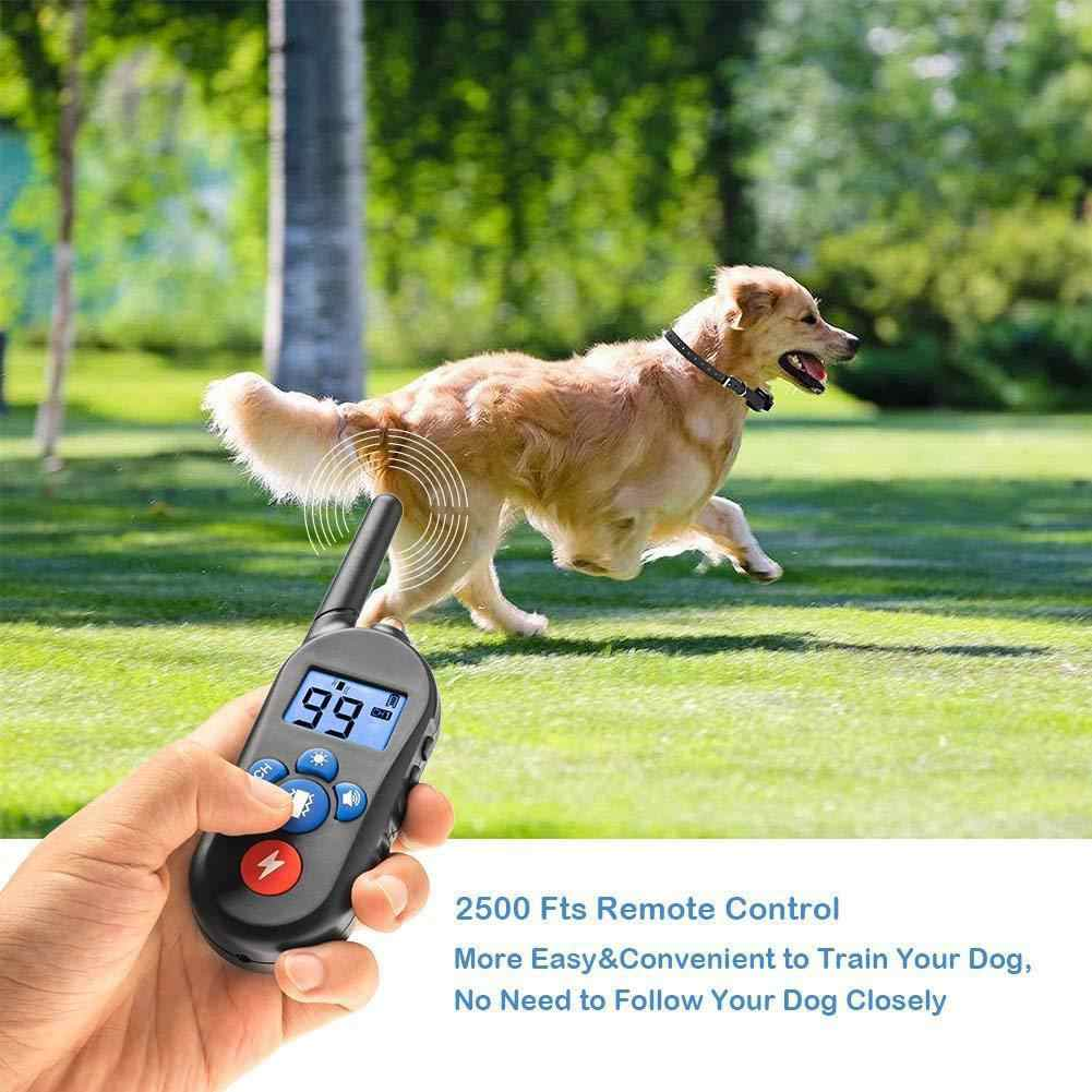 LanLan Черный Водонепроницаемый Электрический шок вибрационное предупреждение ожерелье для домашних животных с 800 м RC расстояние