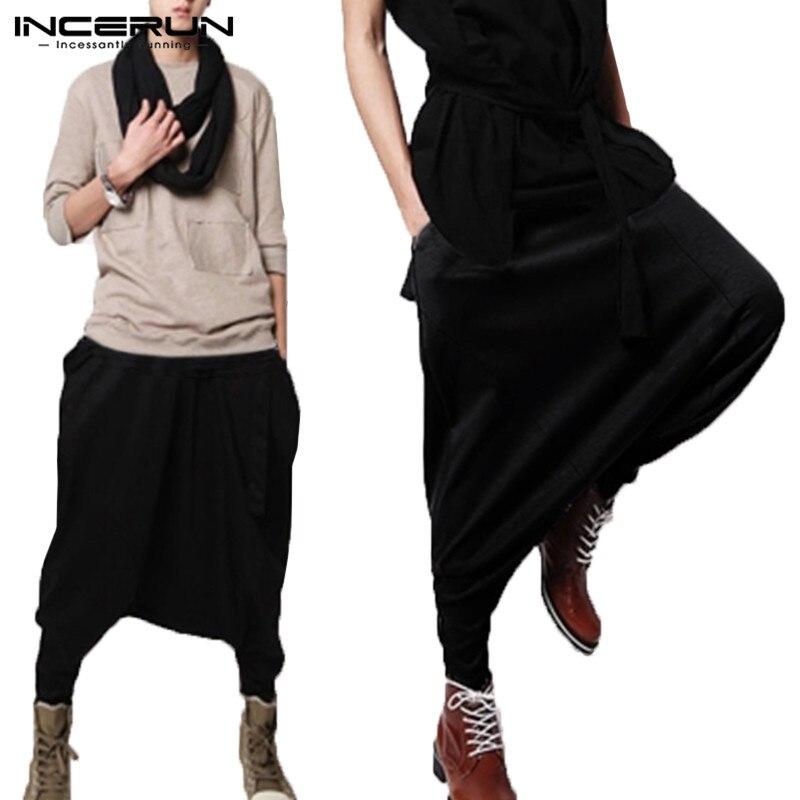Stylish Mens Harem Pants Drop Crotch Long Pants Baggy Man Trousers Pantalones Fitness Joggers Sweatpants Fashion Mens Clothes