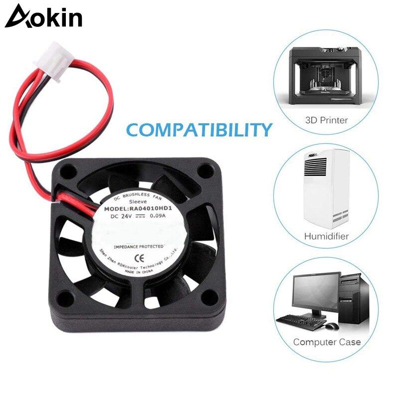Aokin 40x40x10mm 4010 Fans DC 12V 24V Fans For Heatsink Cooler Cooling Radiator For 3D Printer Parts 4010 Cooling Fan