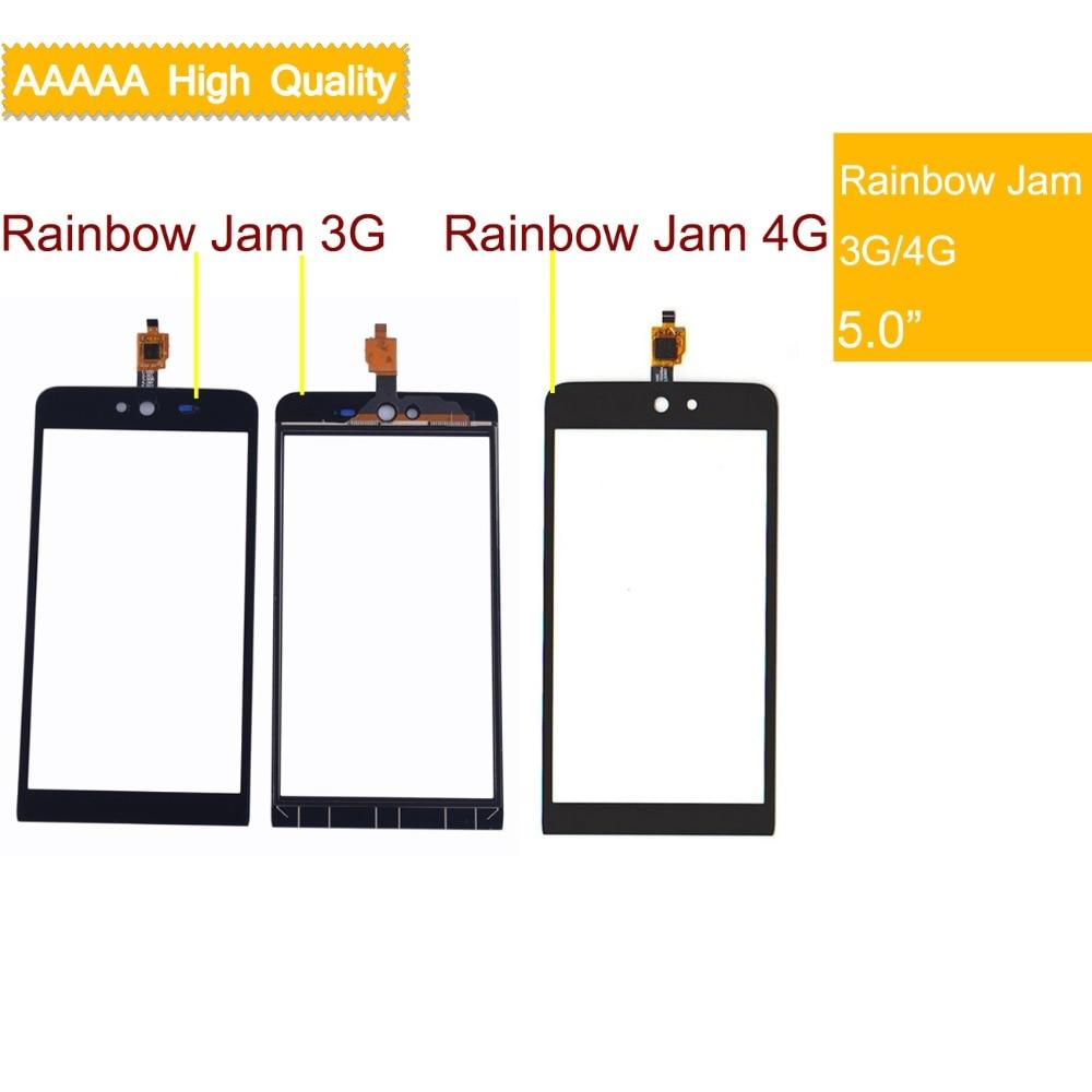 10Pcs/lot For Wiko Rainbow/Rainbow Lite/Rainbow Jam 3G/Rainbow 4G Touch Screen Panel Sensor Digitizer Glass Touchscreen