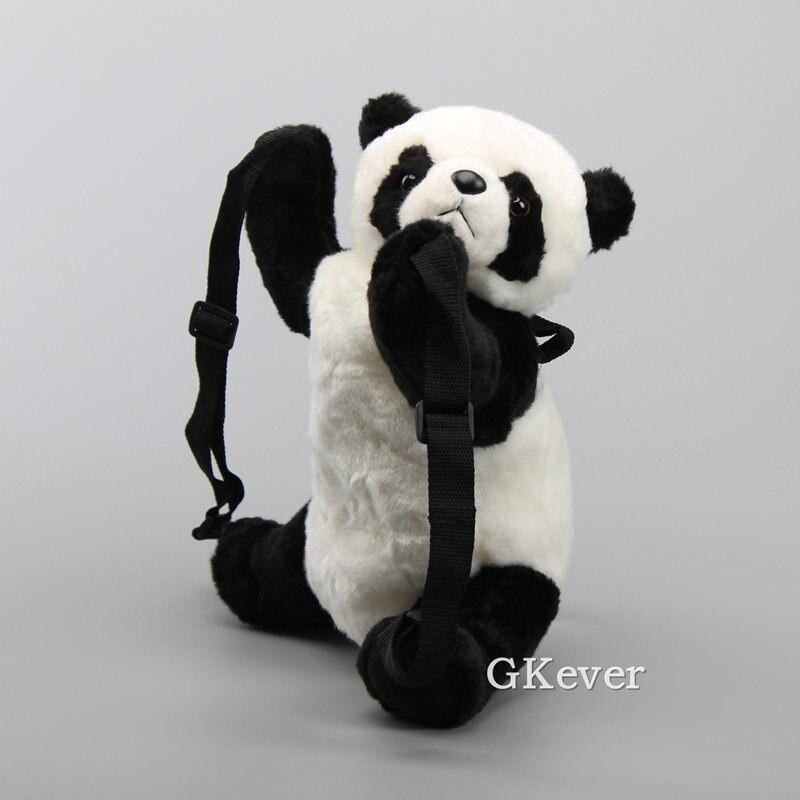 "Lovely Panda Plush Backpack Children School Bag Cartoon Soft Stuffed Dolls Medium Size 13""32 CM"