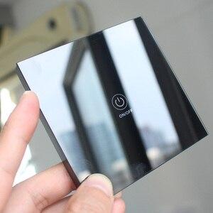 Image 4 - LEORY KTNNKG 1 Kênh 433 MHz Chạm Vào Điều Khiển Từ Xa 86 Tường Chuyển Đổi Không Dây RF Transmitter Tempered Glass Bảng Điều Chỉnh