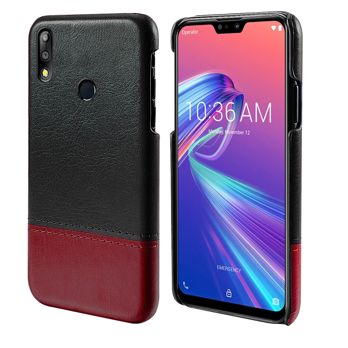For Asus Zenfone Max Pro M2 ZB631KL Phone Case PU Leather Dual Color Splicing Phone Cover For Asus Zenfone Max M2 ZB633KL Fundas